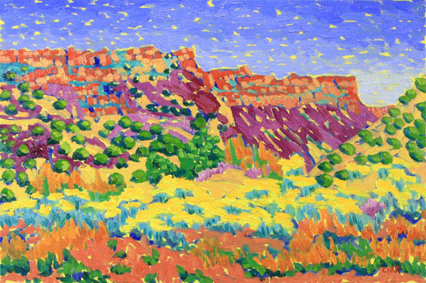 Char J Michelson, Fauve Painter, Plein Air Fine Artwork, Landscapes, Florals, Interiors in Oil, Paintings - Austin, Texas - Carmel, California - New Mexico - Southwest